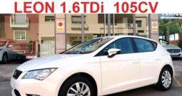SEAT LEON 1.6 TDi 105CV REFERENCE PLUS;AÑO: 2015