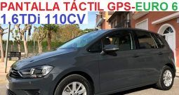 VOLKSWAGEN GOLF SPORTSVAN 1.6TDi 110CV EURO 6;AÑO: 11-2015
