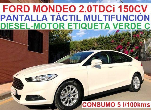 FORD MONDEO TREND 2.0TDCi 150CV 5 PUERTAS;AÑO:12-2016 lleno